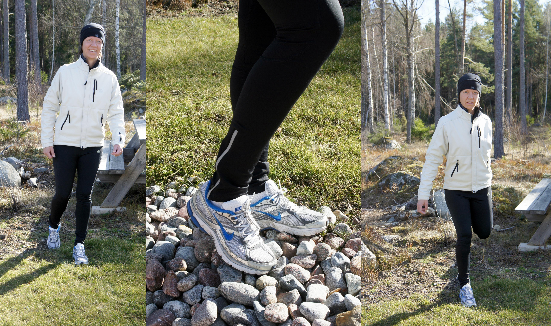 Löptur i skaljacka SOS, joggingbyxor adidas och skor Nike