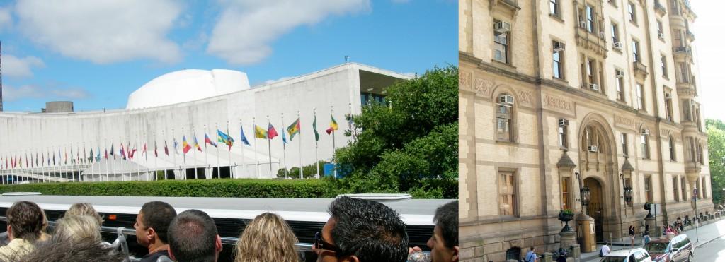 FN-högkvarteret och Dakota building där John Lennon sköts