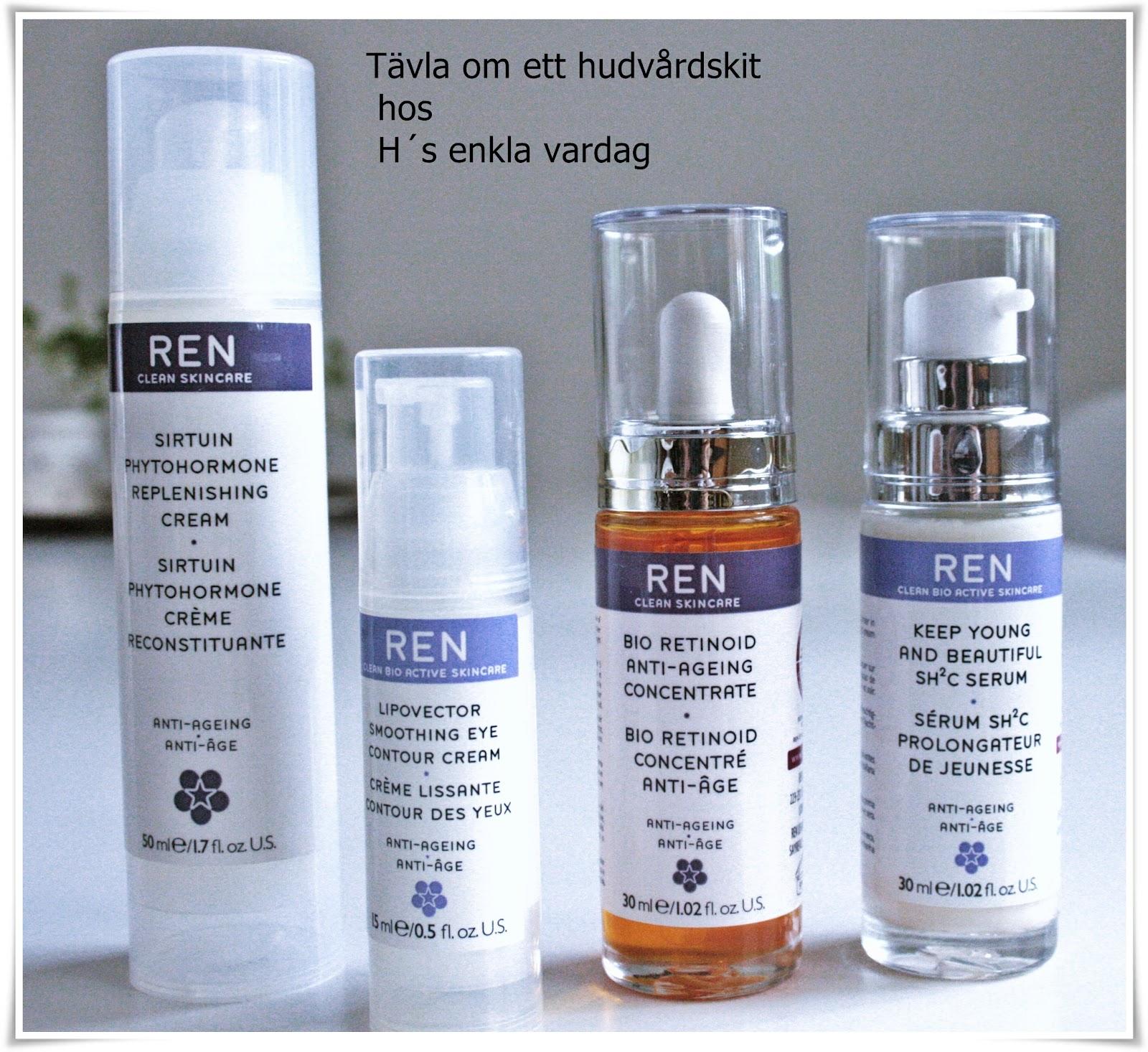 REN hudvårdsprodukter