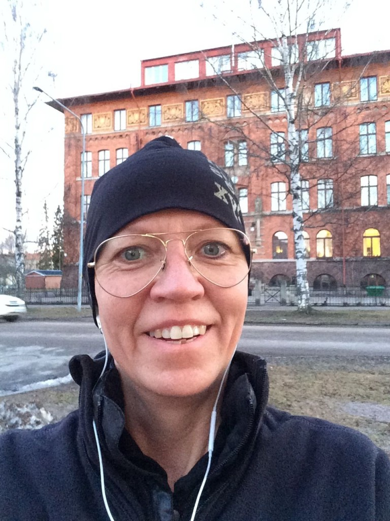 Löptur kväll Gävle