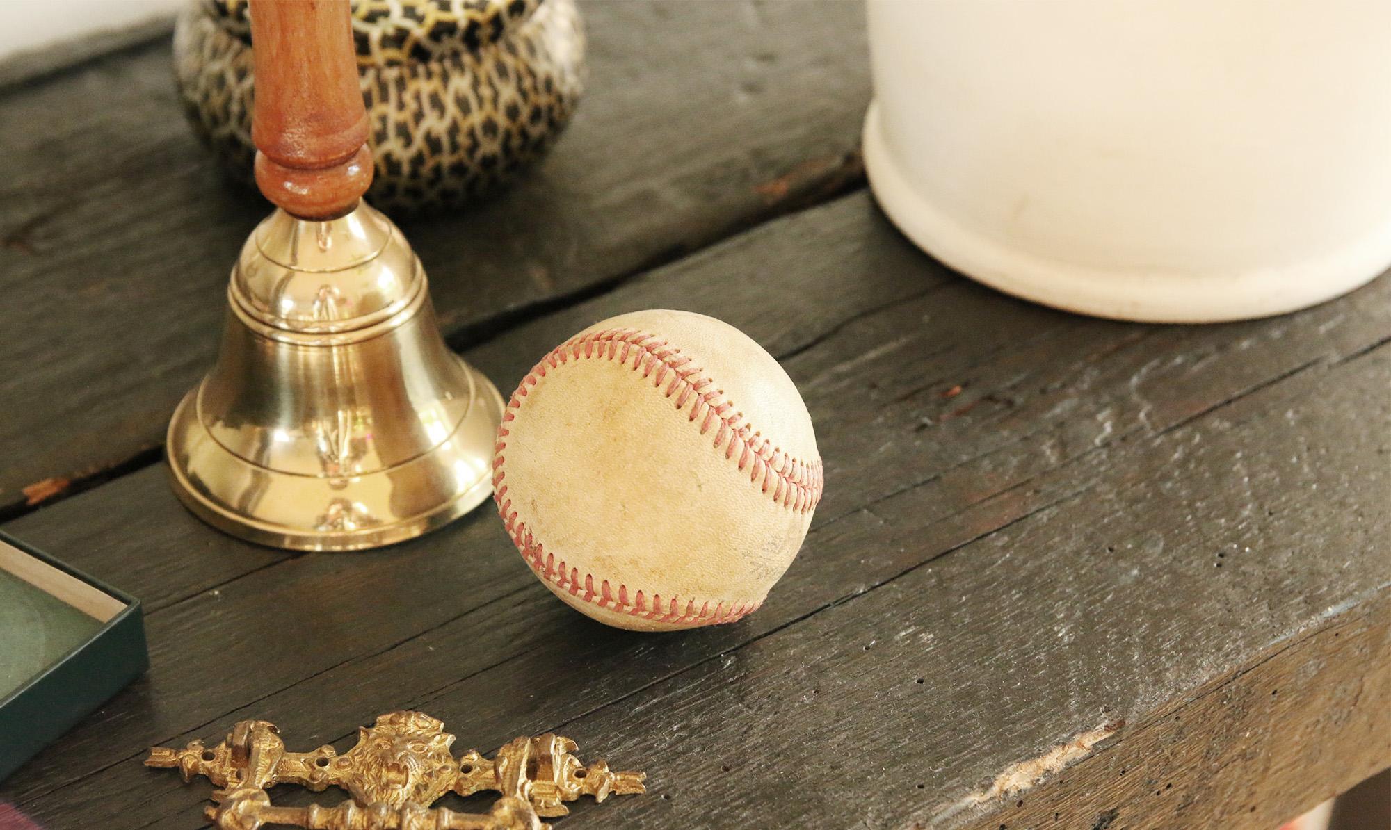 Baseboll - ett inrednings fynd från en loppis på Manhattan