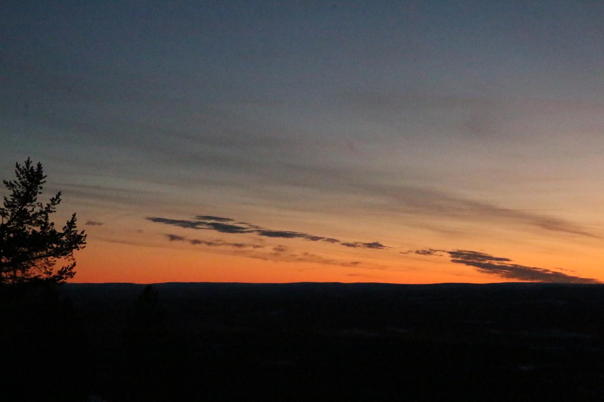 Magiskt vacker solnedgång