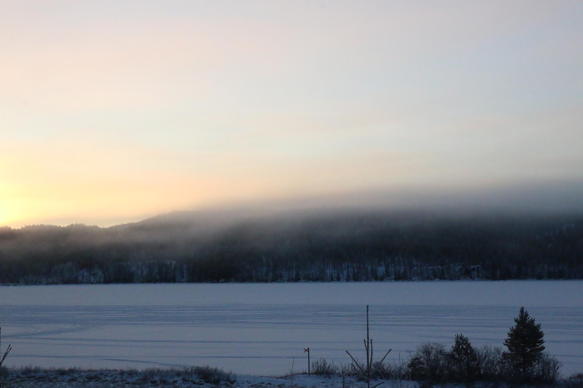 Dimma över bergen
