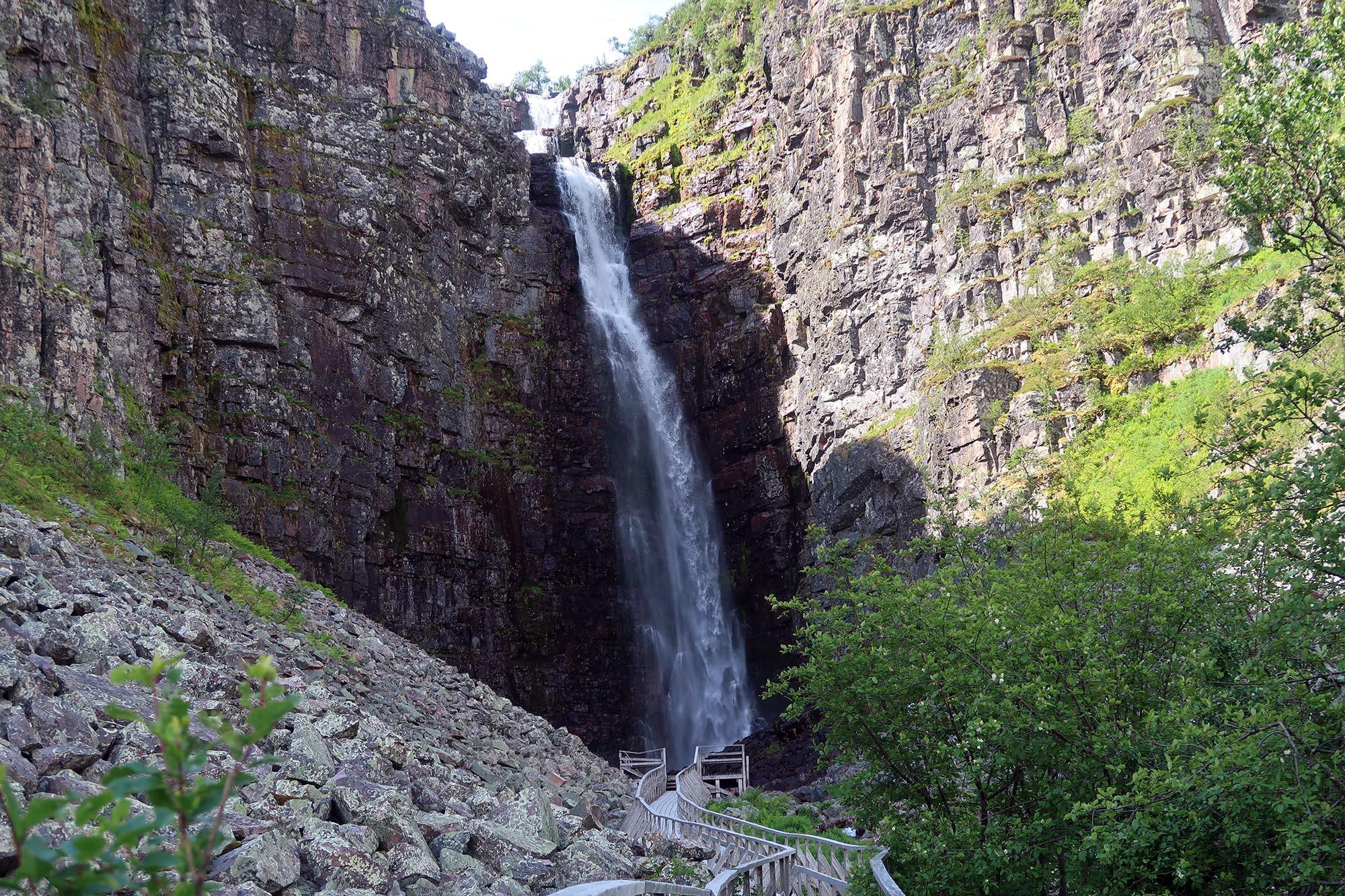 Njupeskär, Sveriges högsta vattenfall, i Fulufjällets nationalpark