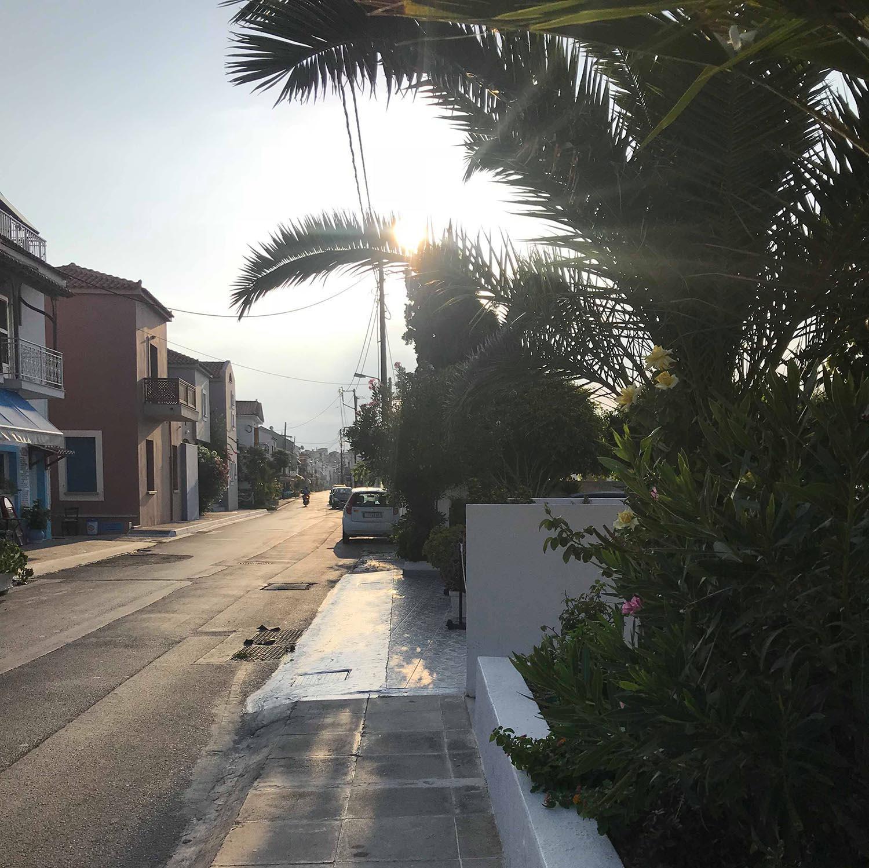 Tidig morgonrunda i Kokkari