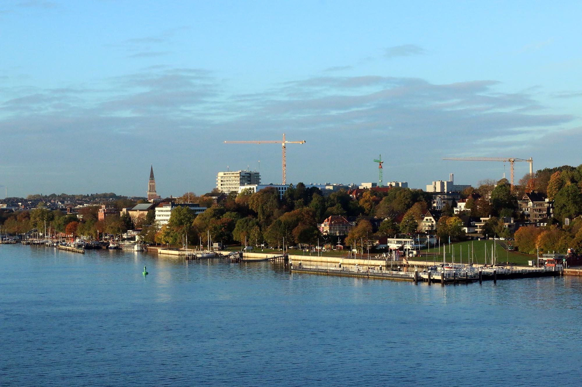 Morgonsol i Kiel