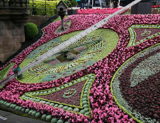 Princes Street Gardens i Edinburgh