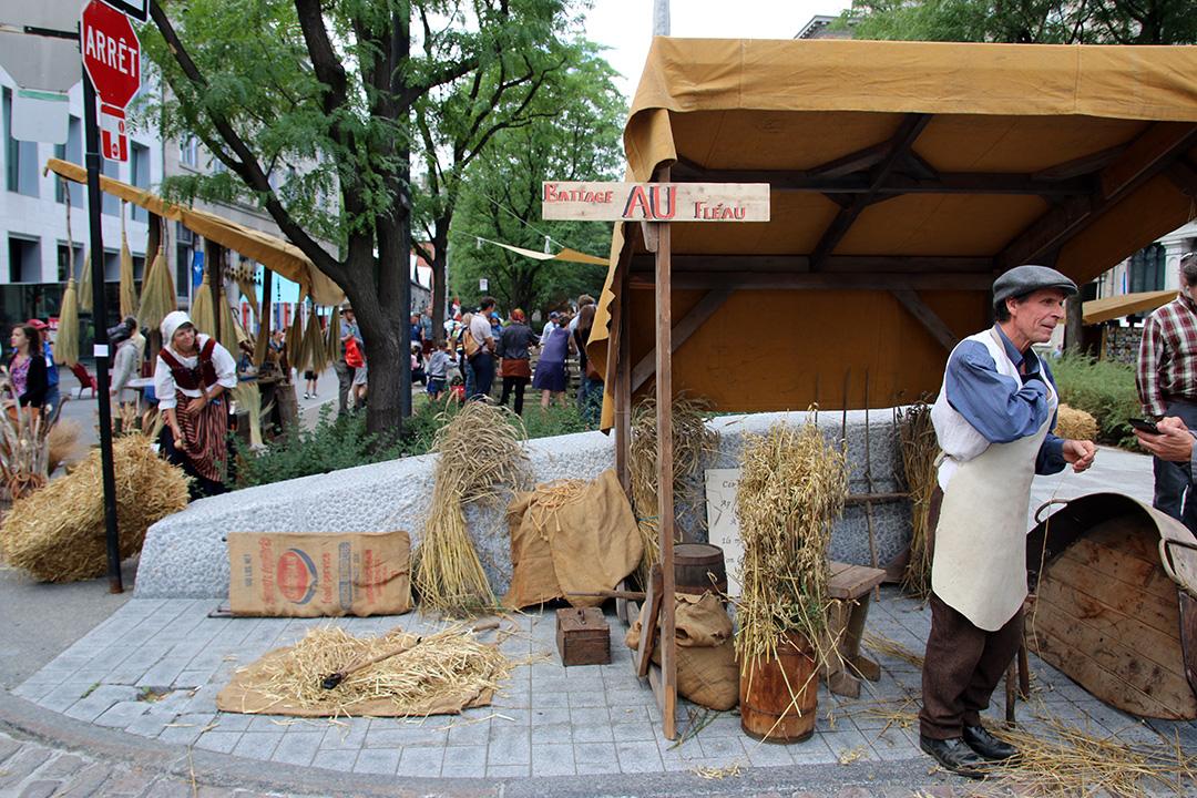 Medeltida marknad i Old Town Montreal