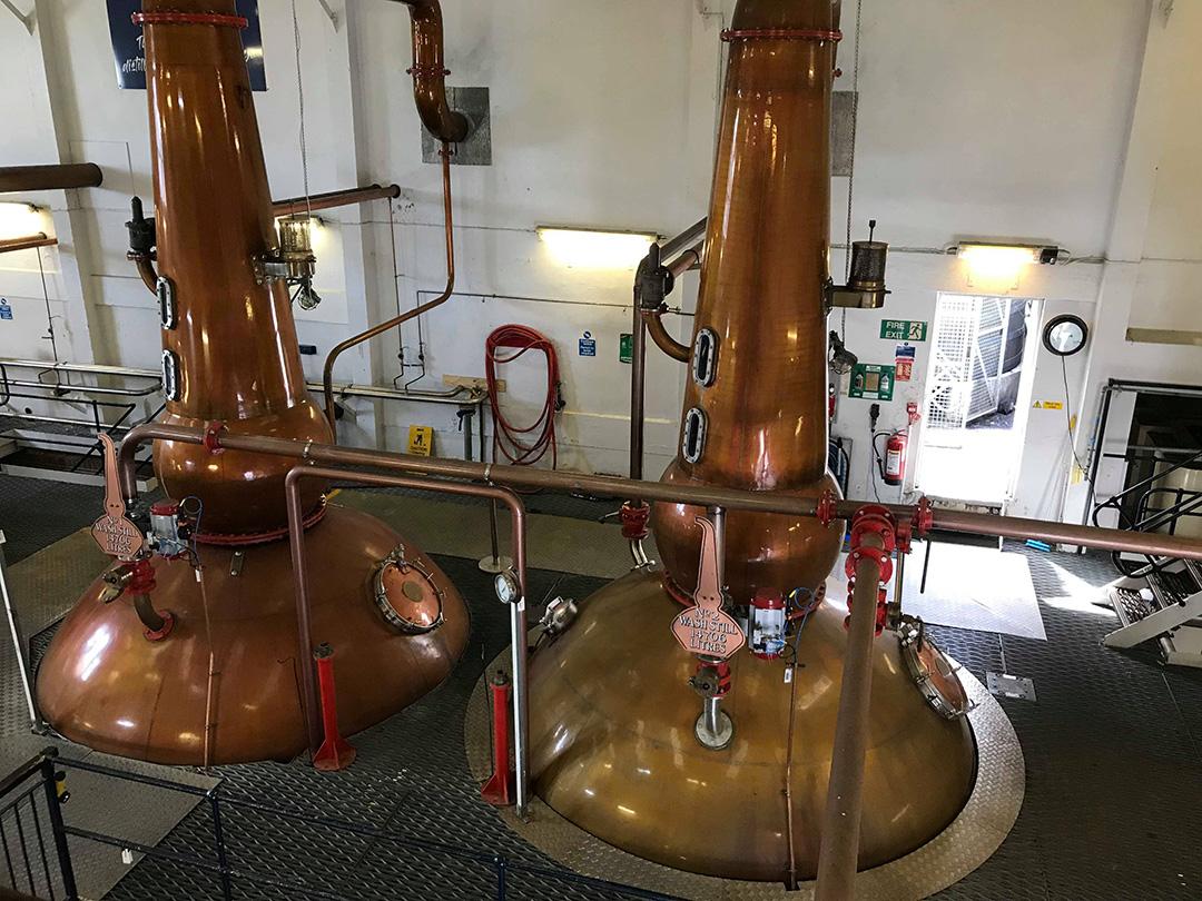 Besök på whiskydestillerier i Skottland