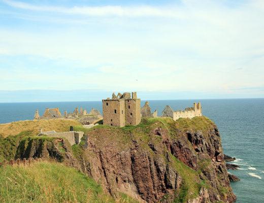 Dunnottar Castle i Skottland