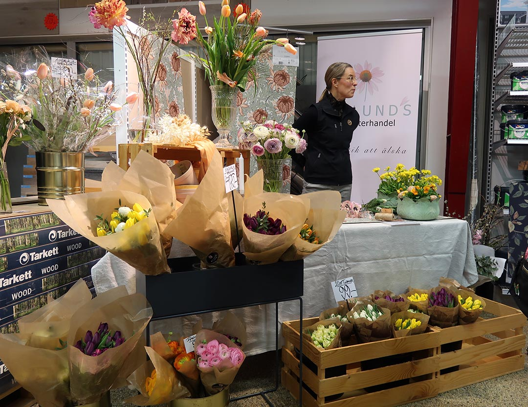 Asplunds blomsterhandel var en av sponsorerna för kundevent på Ackes färgcenter