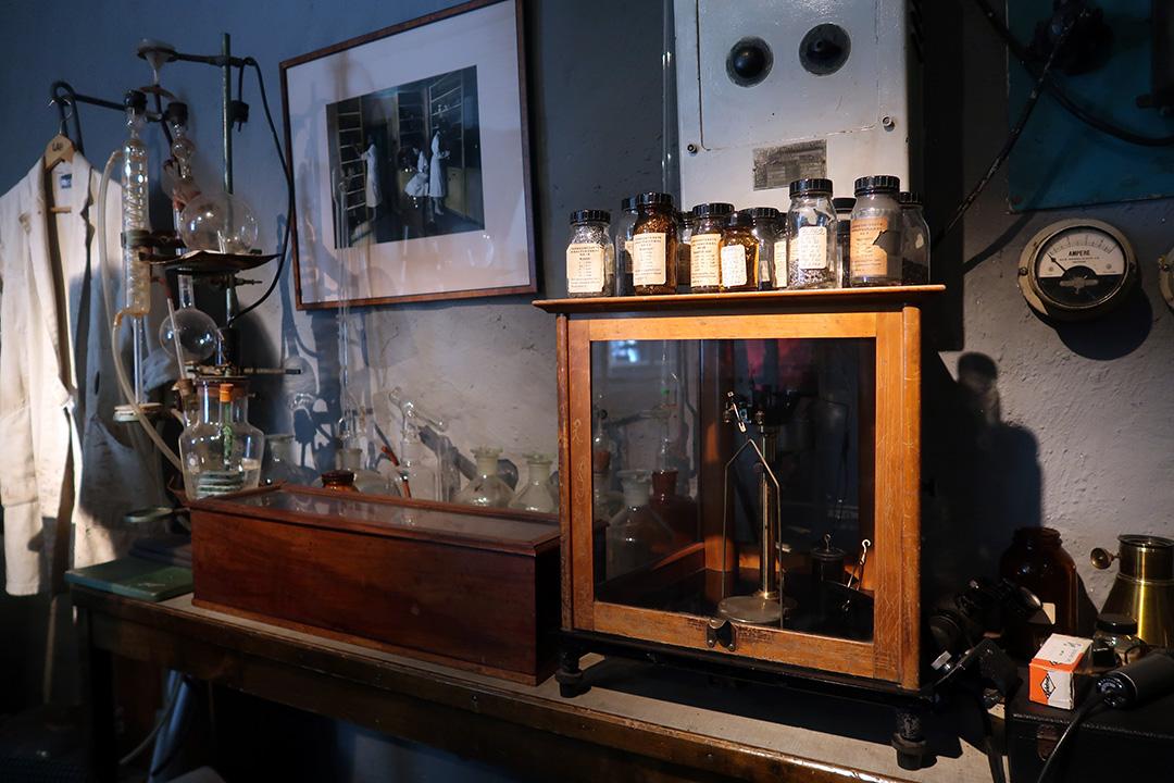 Labutrustning på Lesjöfors museum