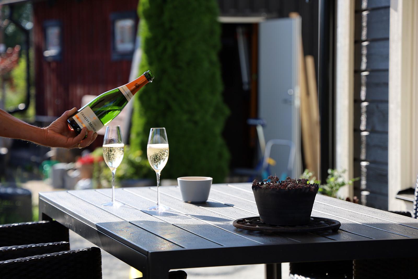 Champagne och date night
